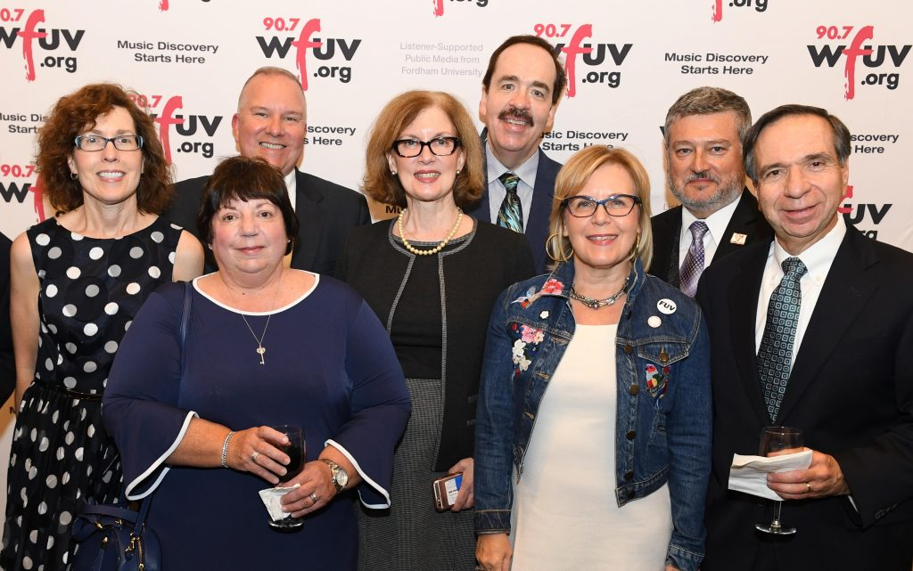WFUV Alumni and FCAA Board Members.